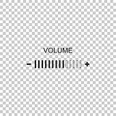 Volume adjustment icon isolated on transparent background. Flat design. Vector Illustration