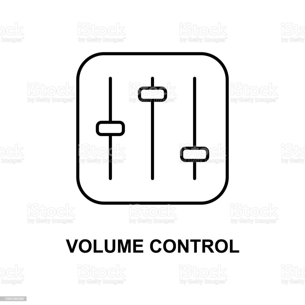 volume control icon. Element of simple web icon with name for mobile concept and web apps. Thin line volume control icon can be used for web and mobile vector art illustration