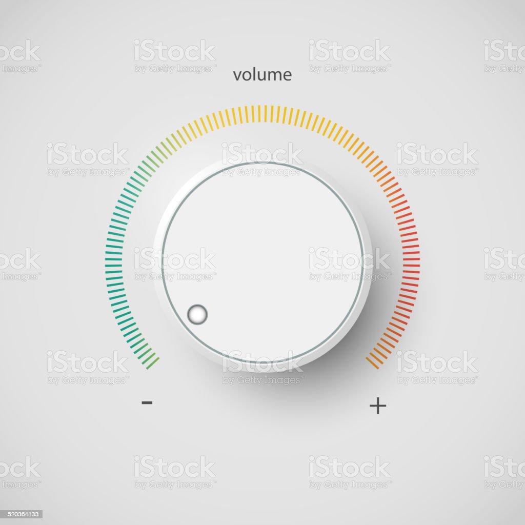 Volume control vector art illustration