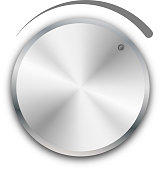 Vector volume knob on white background