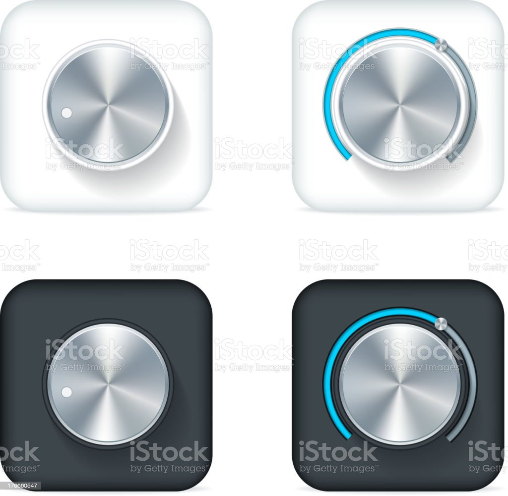 Volume Knoobs royalty-free volume knoobs stock vector art & more images of audio equipment