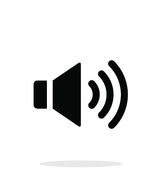 Volume max. Speaker icon on white background. vector art illustration