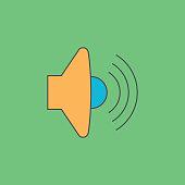 Volume max. Speaker icon