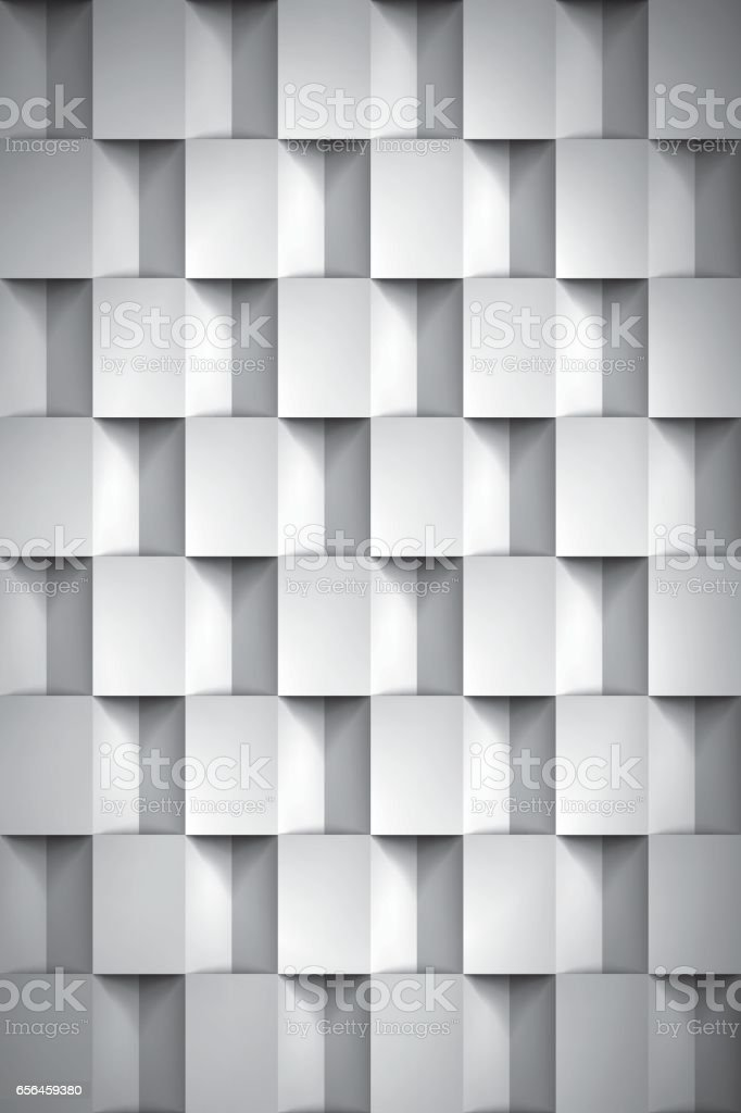 Volume Realistic Texture Cubes Gray 3d Geometric Pattern Design