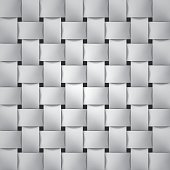 Volume realistic texture, wicker gray background, 3d geometric pattern, design vector