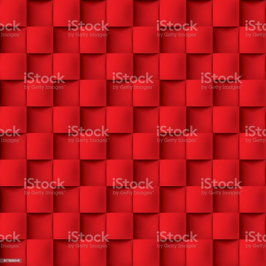 Volume realistic vector texture, cubes, red geometric pattern, design wallpaper royalty-free volume realistic vector texture cubes red geometric pattern design wallpaper stock vector art & more images of abstract