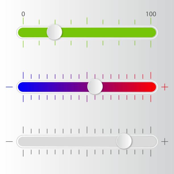 ilustrações, clipart, desenhos animados e ícones de escala de volume. vector. - deslize