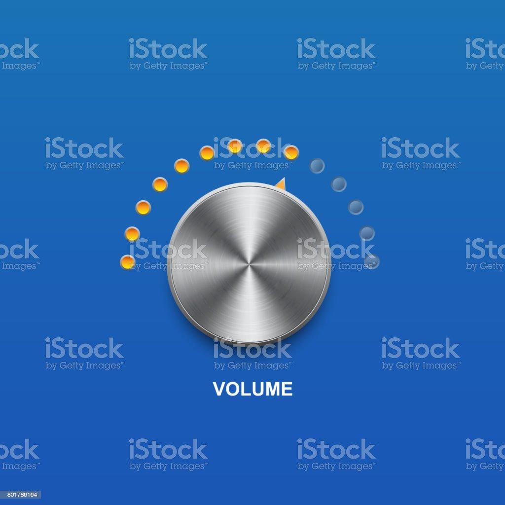 volume sound button volume sound and vector button Aluminum stock vector