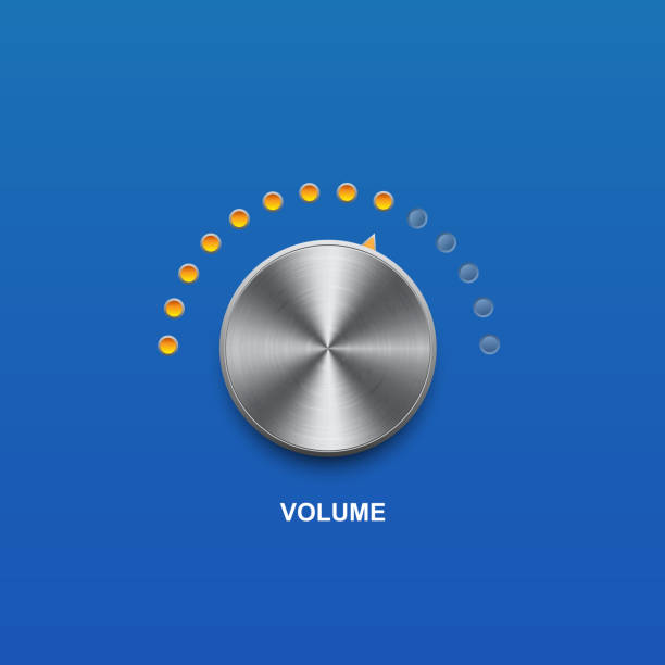 volume sound button volume sound and vector button knob stock illustrations