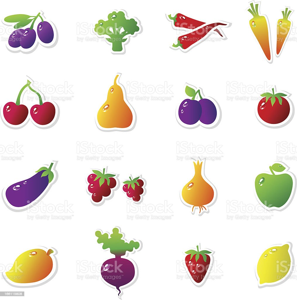 VolumeFruitsVegetables royalty-free stock vector art