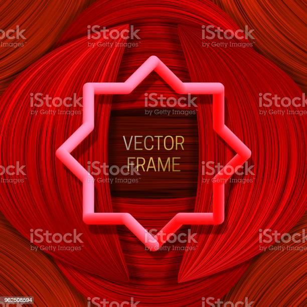 Vetores de Volumétrico Quadro Colorido Sobre Fundo Saturado Em Tons De Vermelhos Modelo De Design Ou Tampa De Embalagem Elegante e mais imagens de Abstrato