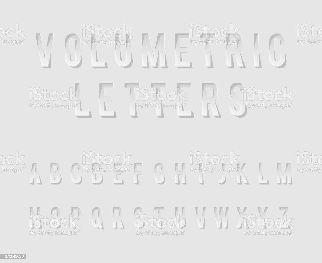 Volumetric Cutout Alphabet Letters Realistic 3d Template Design Mock