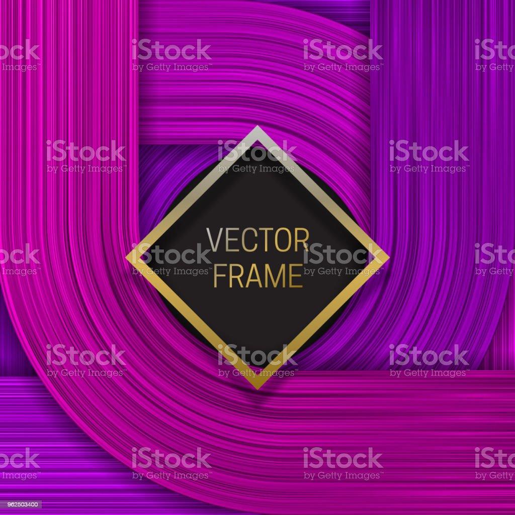 Quadro aferido em saturada fundo em tons de roxos. Modelo de design ou tampa de embalagem elegante. - Vetor de Abstrato royalty-free