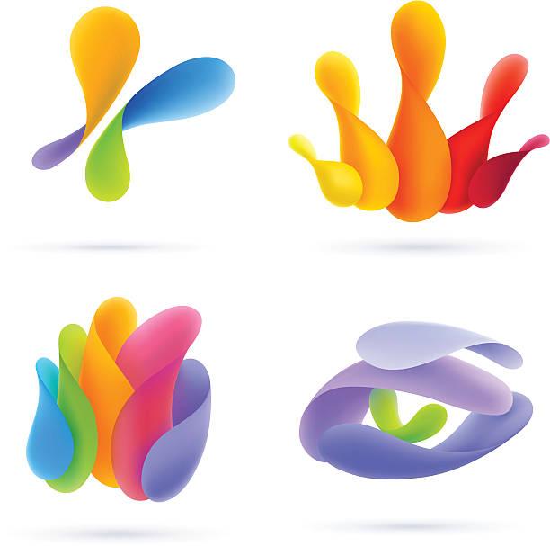 ilustrações de stock, clip art, desenhos animados e ícones de elementos de design de vector volumétrica - future hug