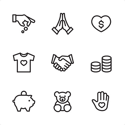 Volunteer and Charity - Single Line icons