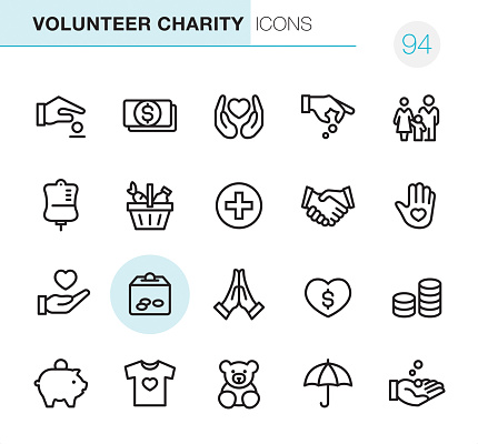 Volunteer Charity - Pixel Perfect icons