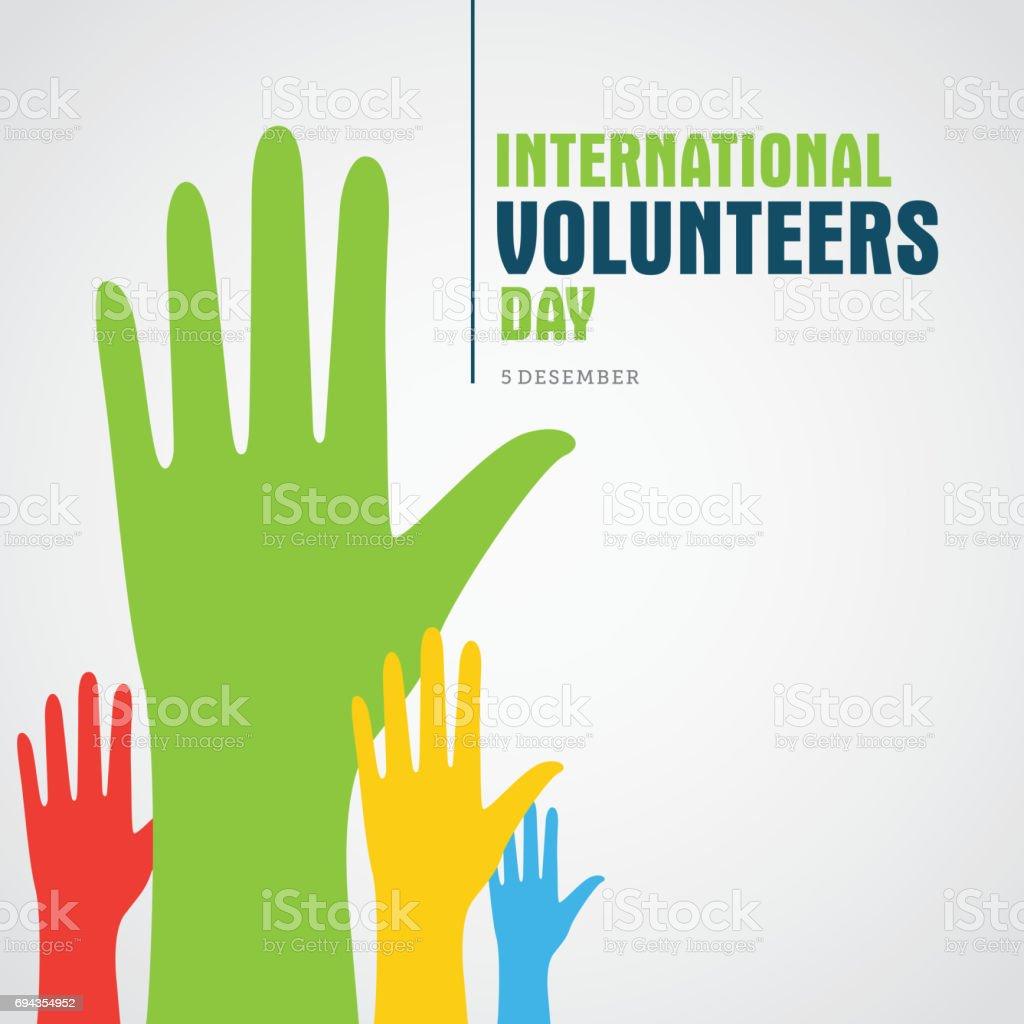 Volunteer Day vector art illustration