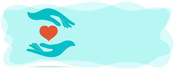 bildbanksillustrationer, clip art samt tecknat material och ikoner med volontär donation eller solidaritet välgörenhet koncept. frivilligt stöd och stödtjänst. symbol handgivande och handmottagning. organisation av frivilliga. bidrag - emotionellt stöd