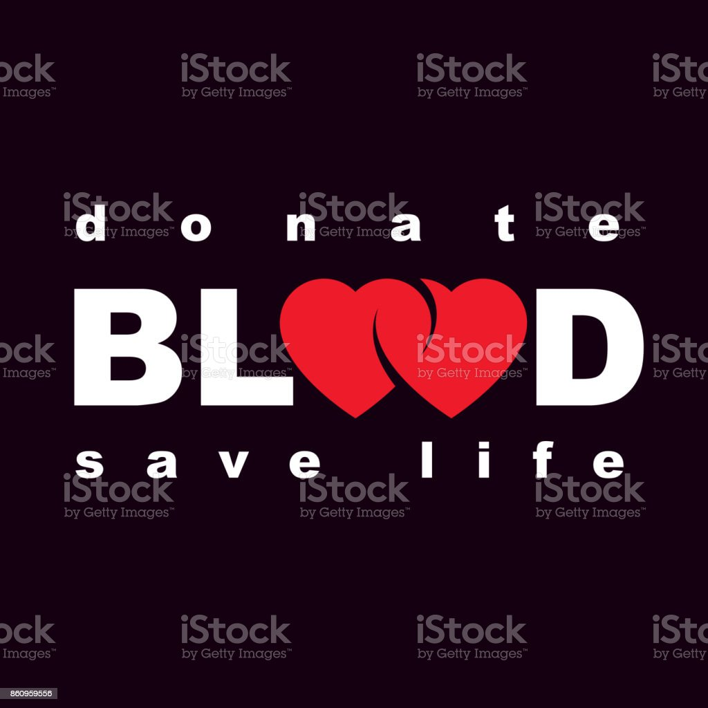 Volunteer donorship, healthcare and medical treatment conceptual icon composed with red heart shape and blood drops. vector art illustration
