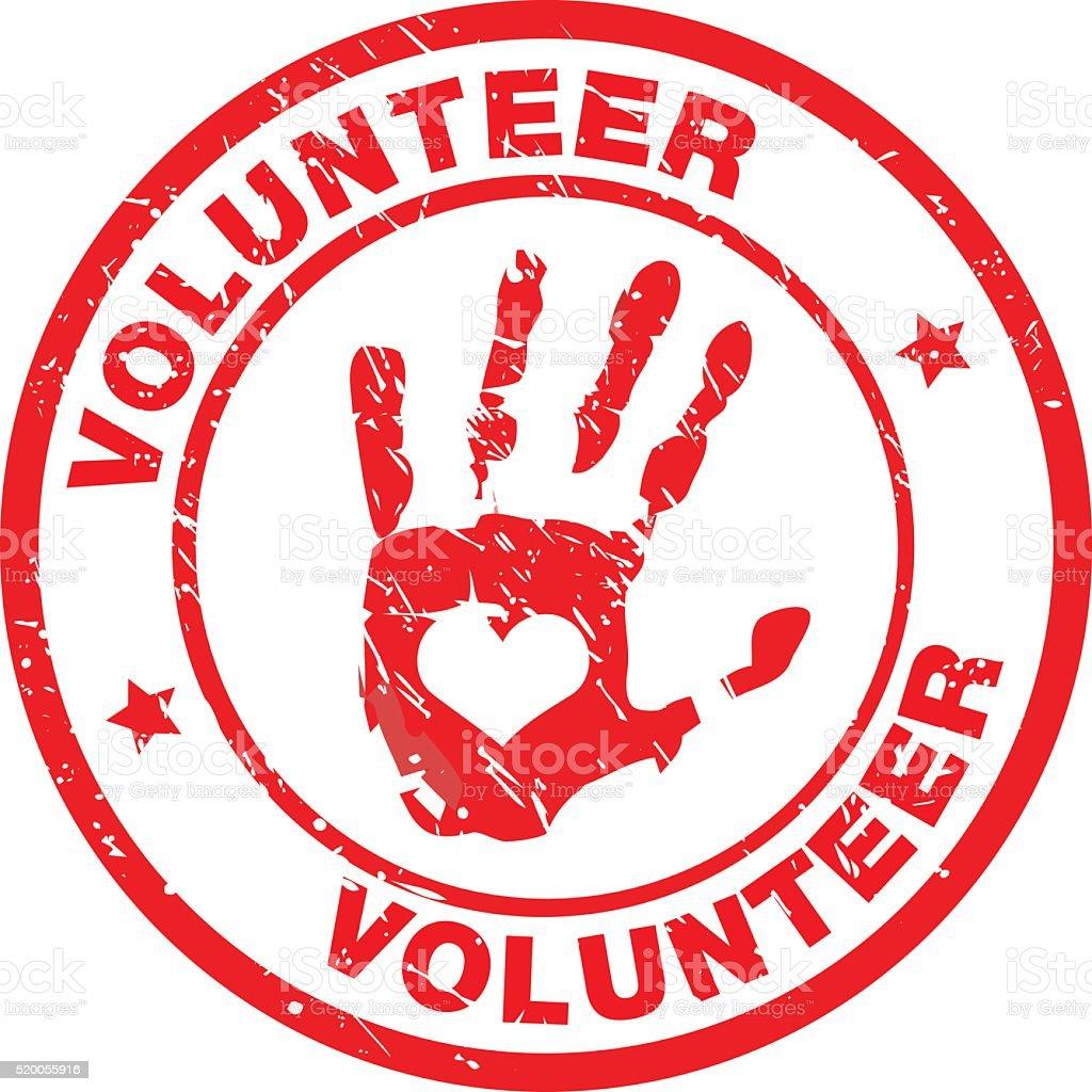 volunteer Label vector art illustration