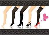 Vector illustration that depicted fashionable feet.