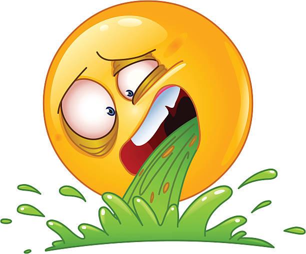 Les vomissements Émoticon - Illustration vectorielle