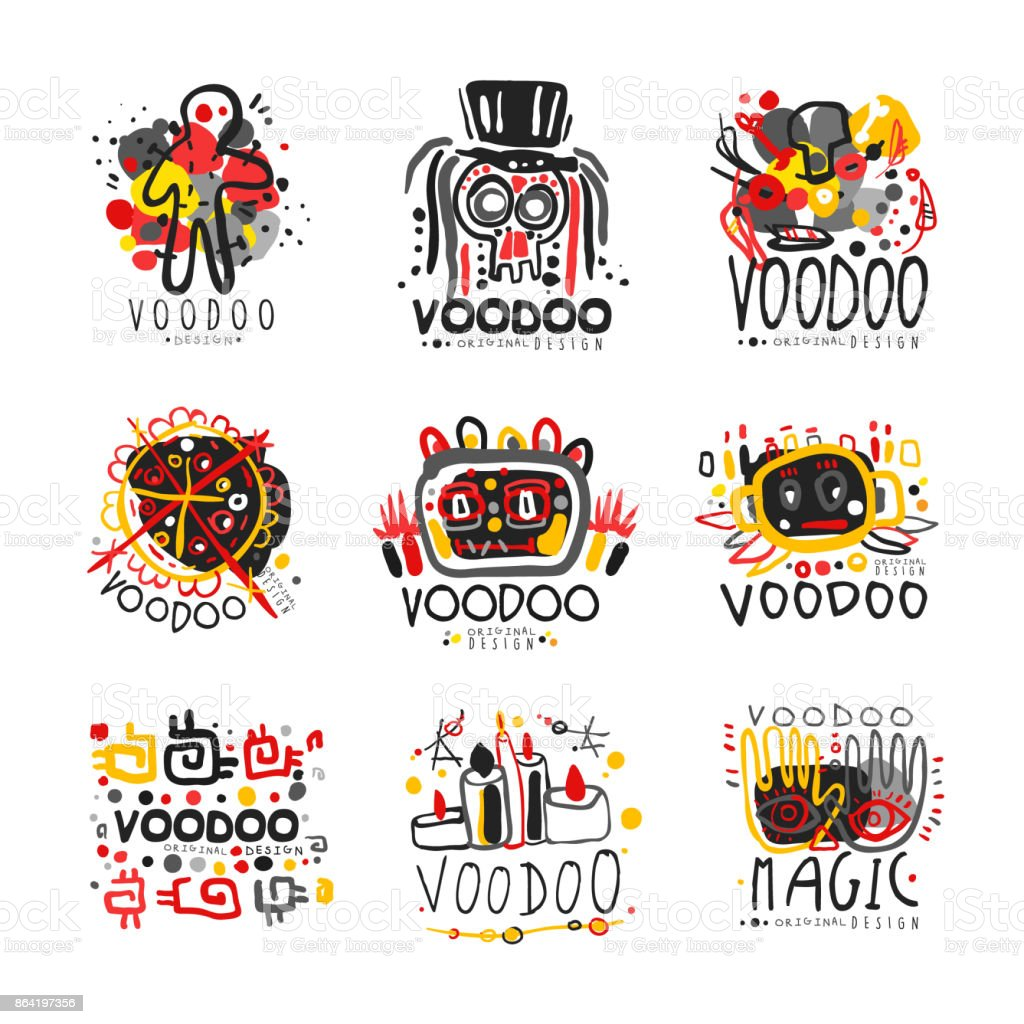 Voodoo African and American magic icon set royalty-free voodoo african and american magic icon set stock vector art & more images of africa