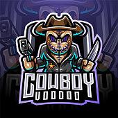 Illustration of Voodoo cowboy esport mascot