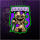 Illustration of Voodoo esport mascot logo design
