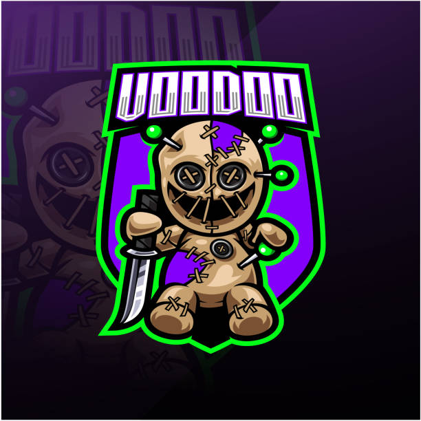 Voodoo esport mascot logo design Illustration of Voodoo esport mascot logo design voodoo stock illustrations