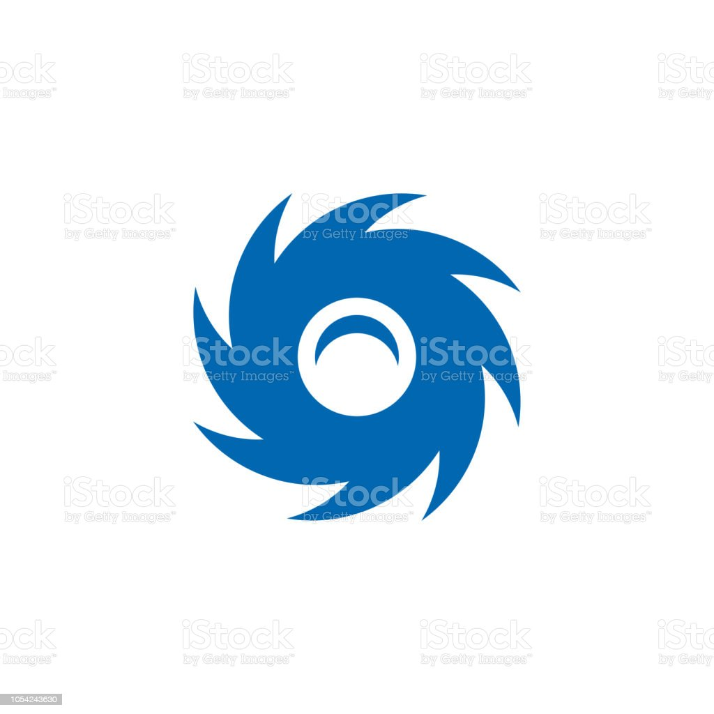 Vortex Icon Symbol Design Vector Illustration Stock Illustration