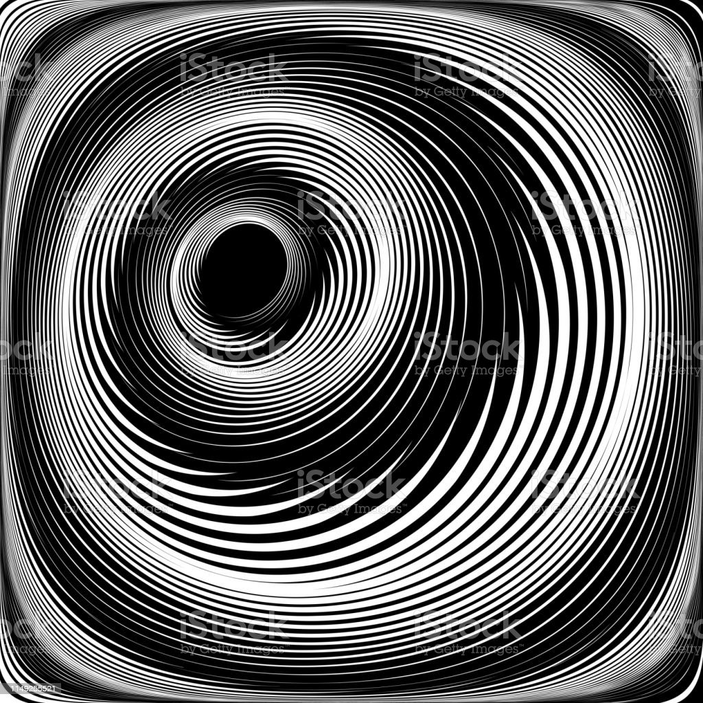 Vortex Illusion Spiral Swirl Motion Stock Illustration - Download