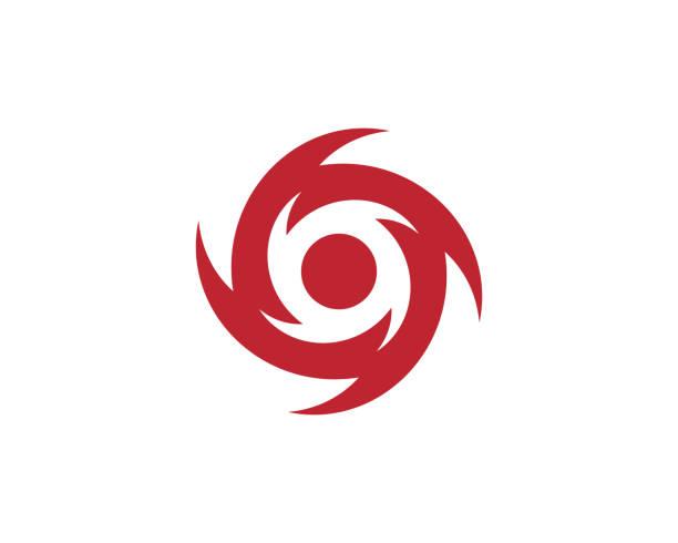 ilustraciones, imágenes clip art, dibujos animados e iconos de stock de icono de ilustración de vector de vortex - hurricane