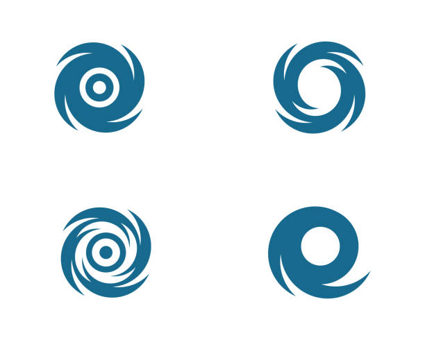 ilustraciones, imágenes clip art, dibujos animados e iconos de stock de ilustración de vector de vortex - hurricane