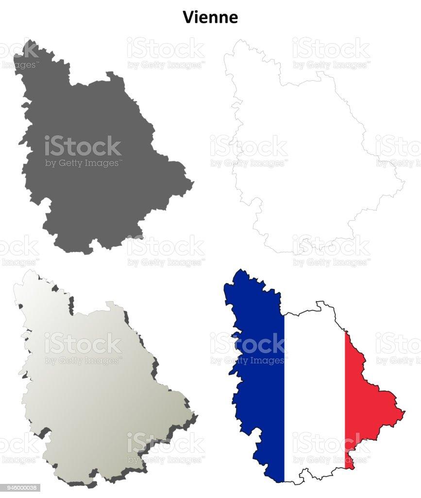 Lothringen Karte.Vogesen Lothringen Umriss Karte Gesetzt Stock Vektor Art Und