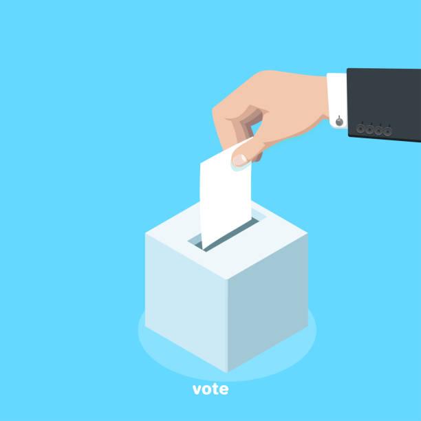 vote 3 vector art illustration
