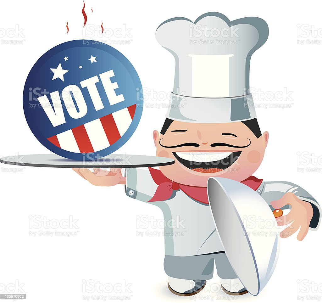 Vote and Chef royalty-free stock vector art