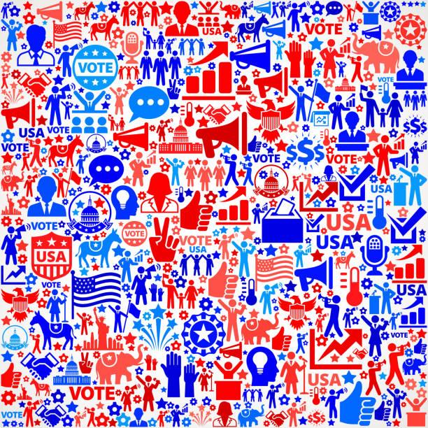 голосование и выборы сша отечественной значок рисунком - presidential debate stock illustrations