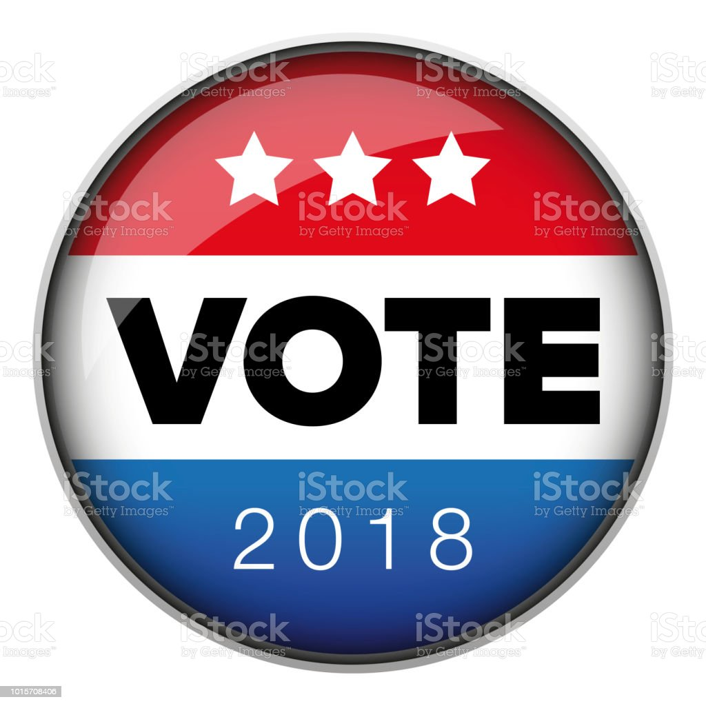 Vote badge button usa vector art illustration