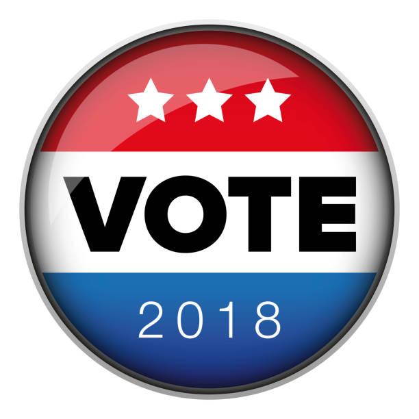 Vote badge button usa Vote badge button usa vector voting stock illustrations
