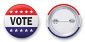 Vector illustration of classic vote button.