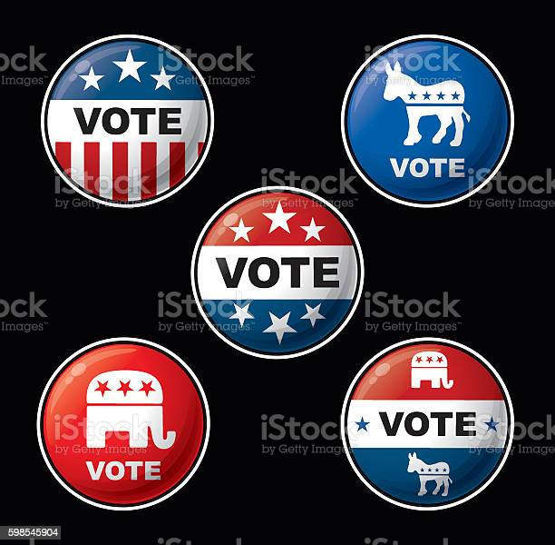 Vote badges american republican democratic parties vector id598545904?b=1&k=6&m=598545904&s=612x612&h=8osypwqv4sopvjzr93nnn5 zns2g4wpuku5uijh9omy=