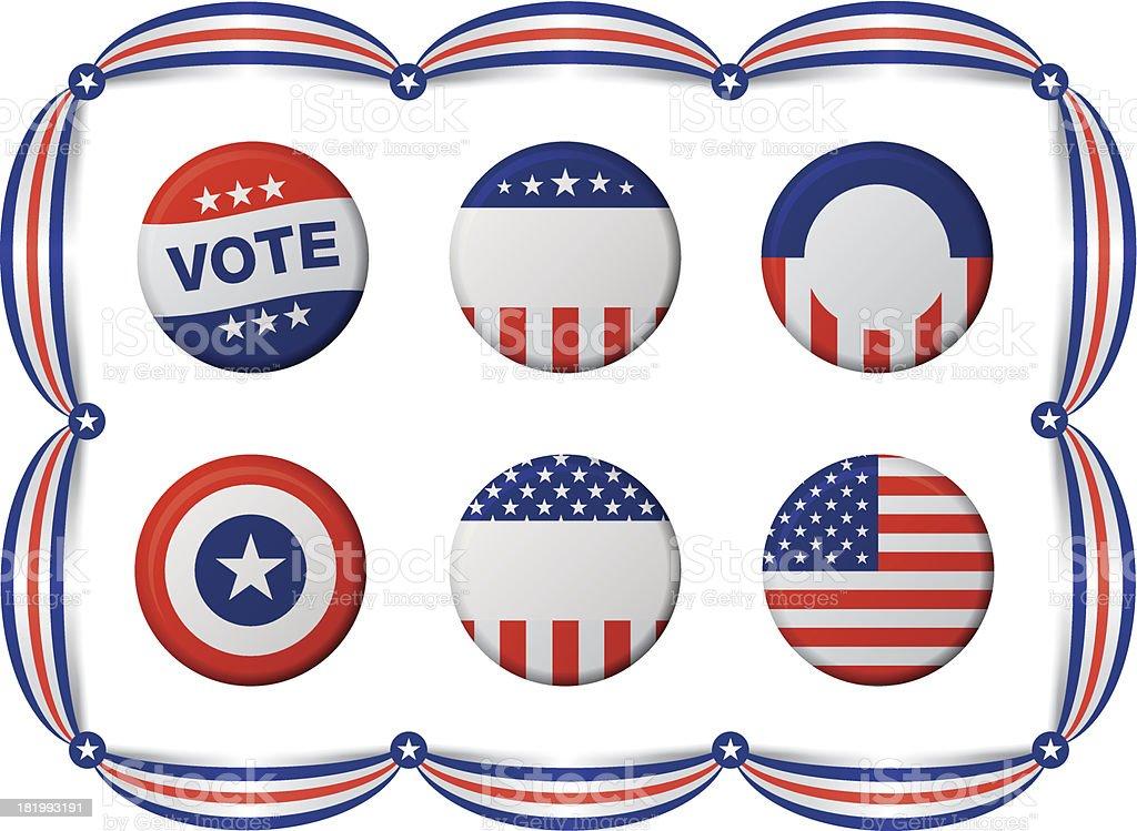 Tarjetas de votación - ilustración de arte vectorial