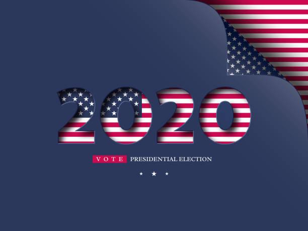 2020 abd oy afiş. - başkanlık seçimleri stock illustrations