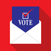 istock Vote By Mail icon 1250145054