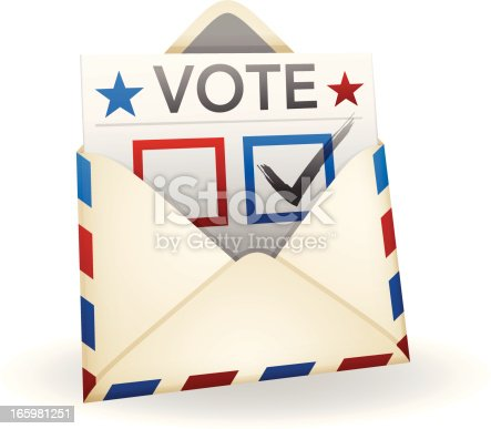 Vote ballot in an envelope.