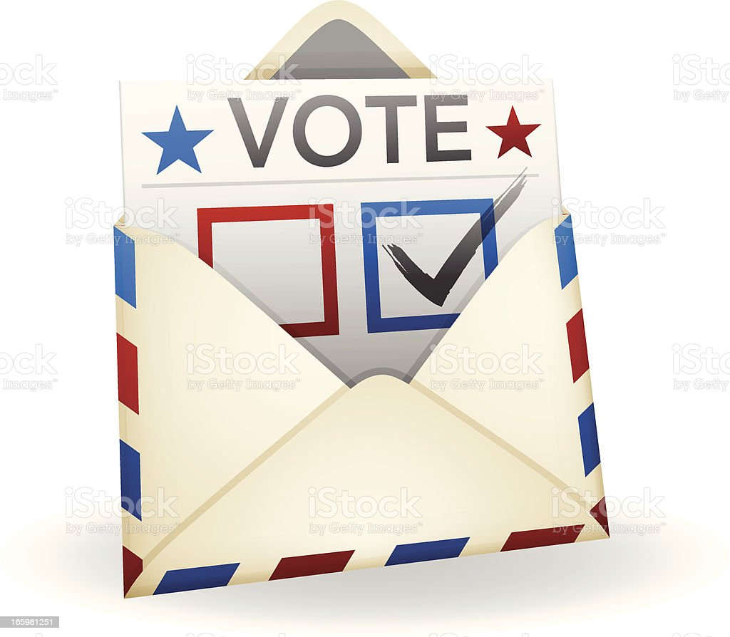 Vote by Mail vector art illustration