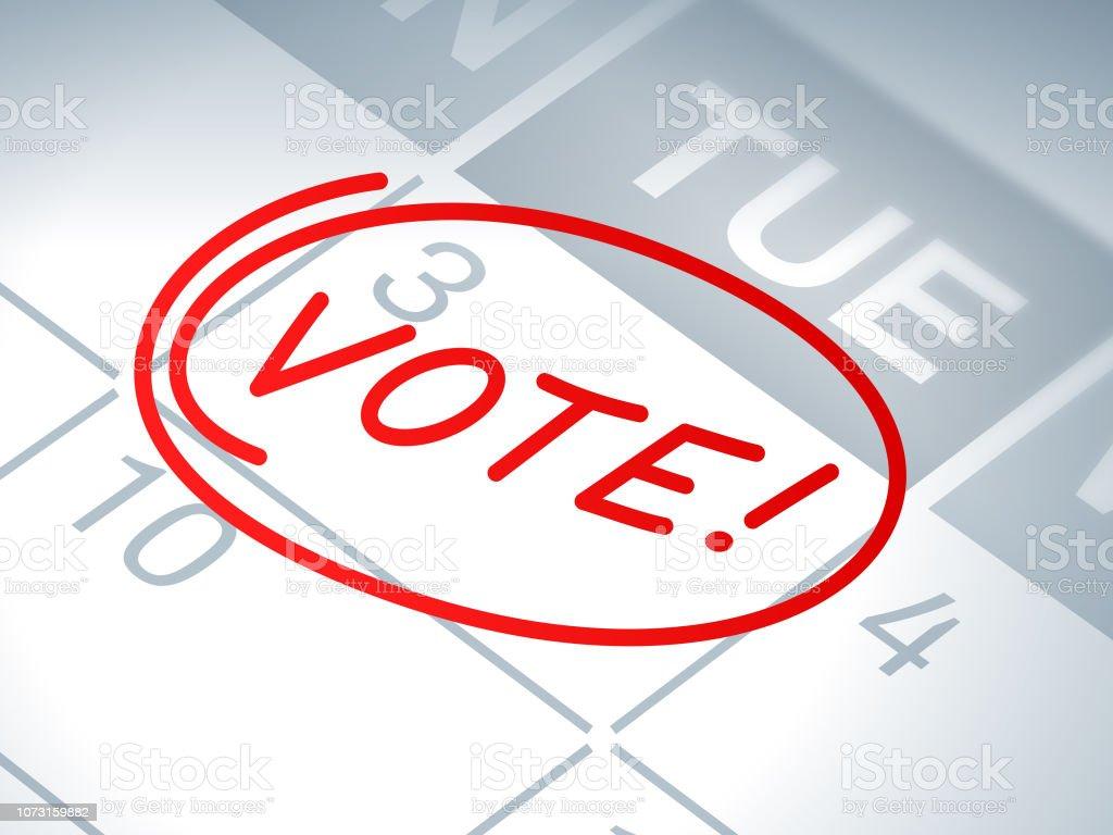 Calendario Elecciones 2020.Ilustracion De Voto Elecciones Calendario Recordatorio Y Mas