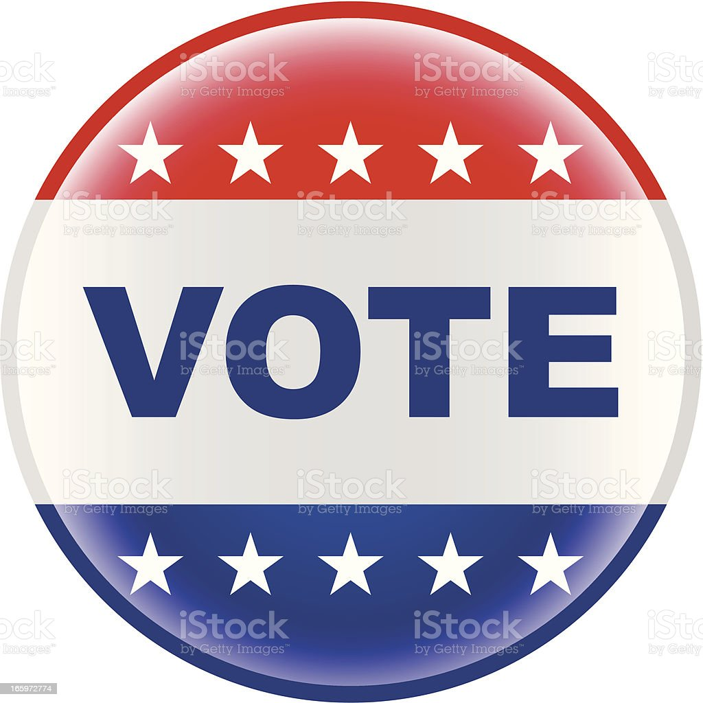 vote election pin bage royalty-free stock vector art