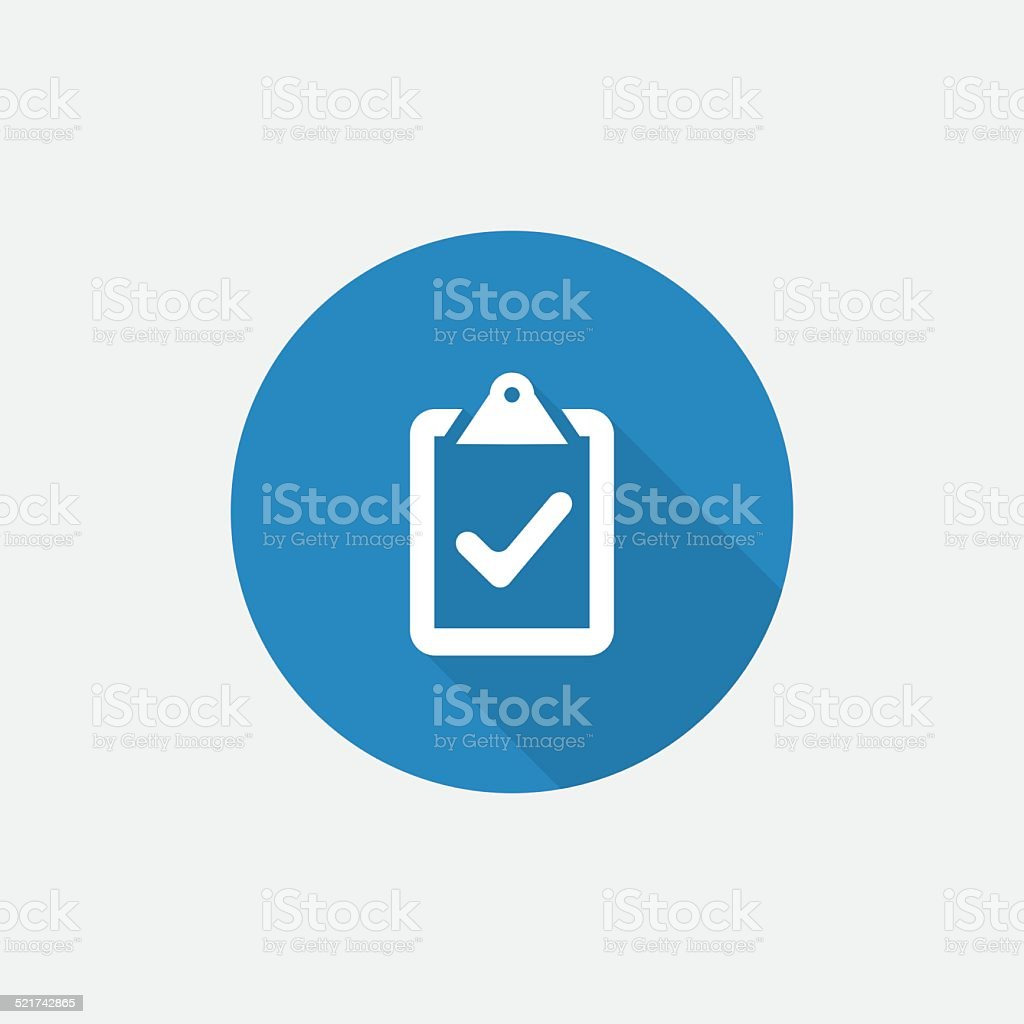 vote Flat Blue Simple Icon with long shadow vector art illustration